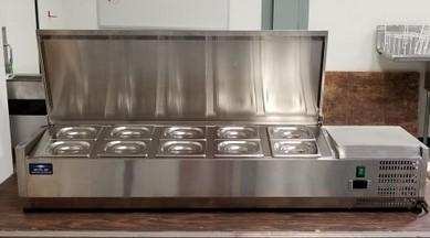 The Very Versatile Arctic Air 55 Refrigerated Countertop Condiment Prep Station Includes 10 6 Deep 1 Size Stainless Steel Food Pans And Covers All