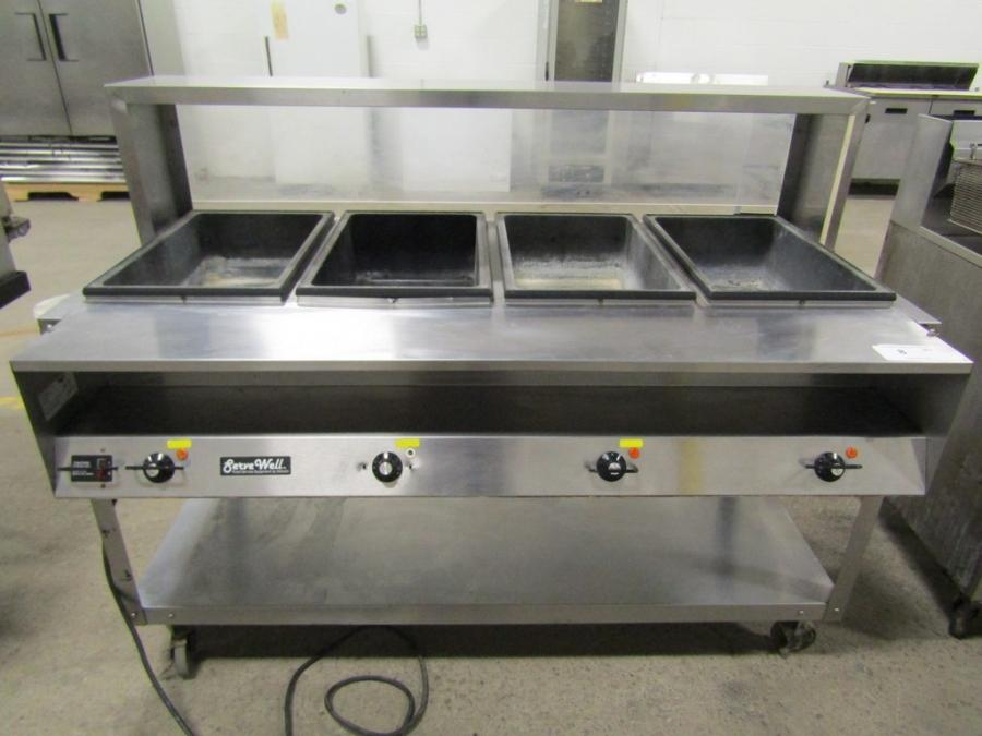 Past Auctions Auction Factory - 4 well gas steam table